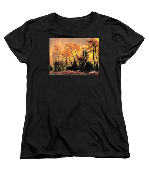 Women's T-Shirt (Standard Cut) featuring the photograph Windy  by Elfriede Fulda