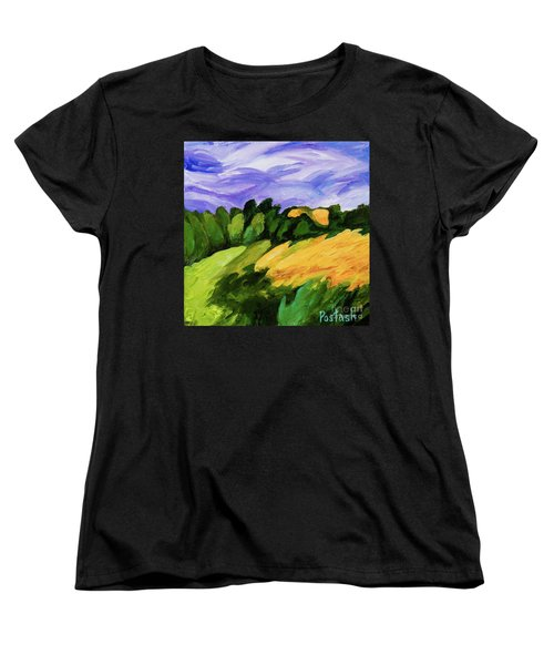 Women's T-Shirt (Standard Cut) featuring the painting Windy by Igor Postash