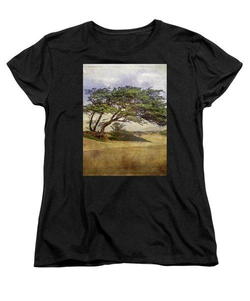Women's T-Shirt (Standard Cut) featuring the photograph Windy Lean by Gena Weiser