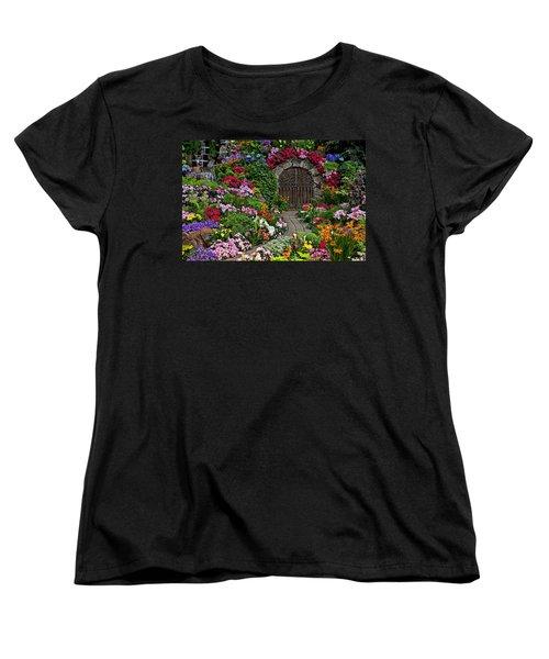 Wine Celler Gates  Women's T-Shirt (Standard Cut) by Garry Gay