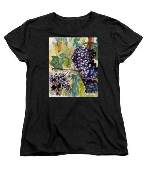 Wine Grapes Women's T-Shirt (Standard Cut) by William Reed