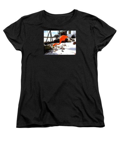 Winter Flamingo Women's T-Shirt (Standard Cut)