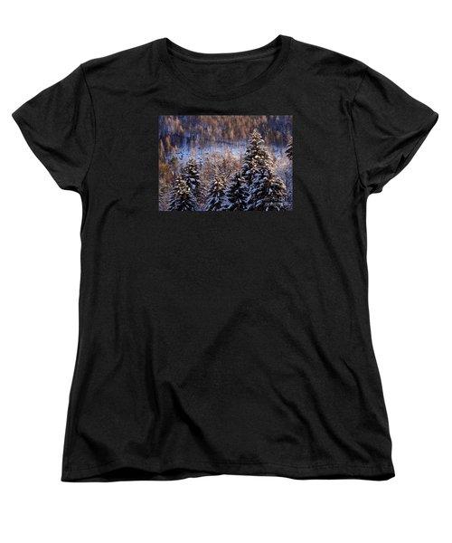 winter in Bavaria 8 Women's T-Shirt (Standard Cut) by Rudi Prott