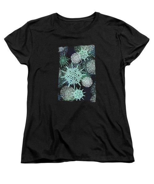Winter Nostalgia Women's T-Shirt (Standard Cut) by AugenWerk Susann Serfezi