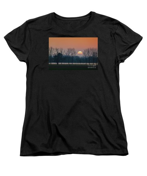 Winter Sunset 1 Women's T-Shirt (Standard Cut) by Jean Bernard Roussilhe