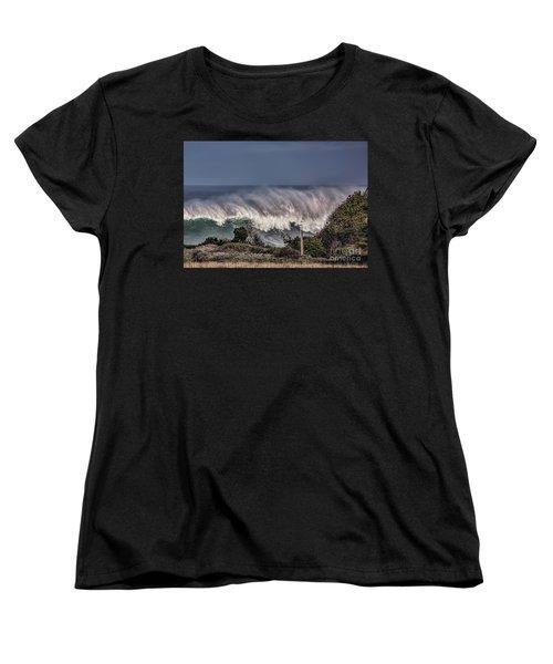 Winter Waves Women's T-Shirt (Standard Cut) by Shirley Mangini