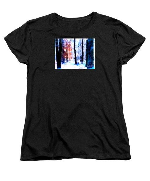 Winter Woods Women's T-Shirt (Standard Cut) by Craig Walters