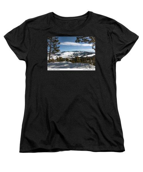 Wintertime View From Hellroaring Overlook In Yellowstone National Park Women's T-Shirt (Standard Cut) by Carol M Highsmith