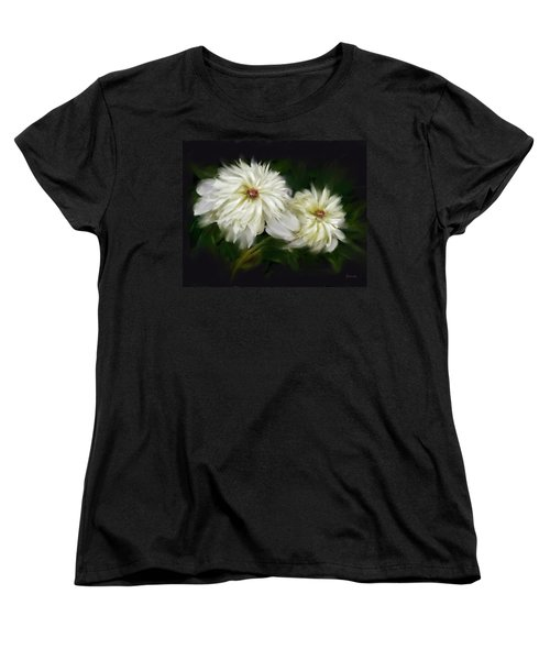 Withering Peony Women's T-Shirt (Standard Cut) by Bonnie Willis