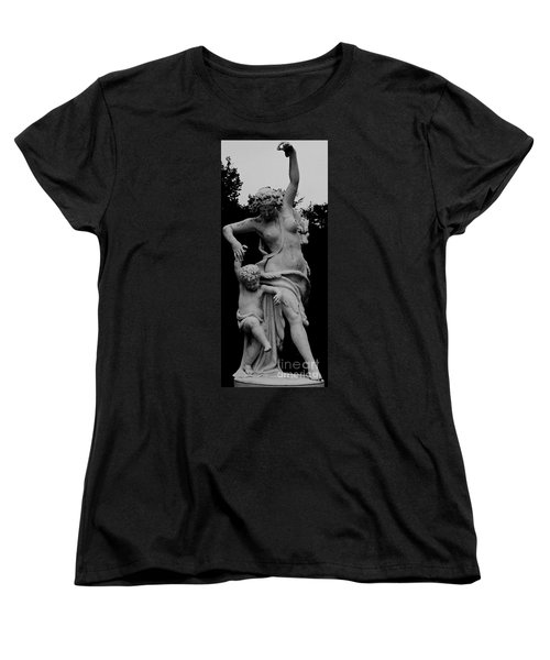 Women's T-Shirt (Standard Cut) featuring the painting Woman Statue by Eric  Schiabor