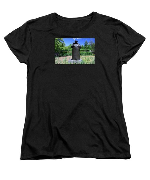 Women's T-Shirt (Standard Cut) featuring the photograph Woman With The Birds by Michiale Schneider