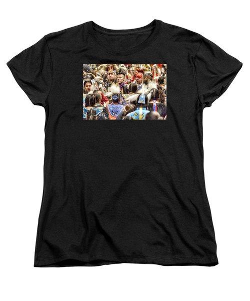 Women And Men Meet Women's T-Shirt (Standard Cut) by Clarice Lakota