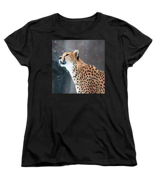 Wonder Of Snow Women's T-Shirt (Standard Cut) by Lula Adams
