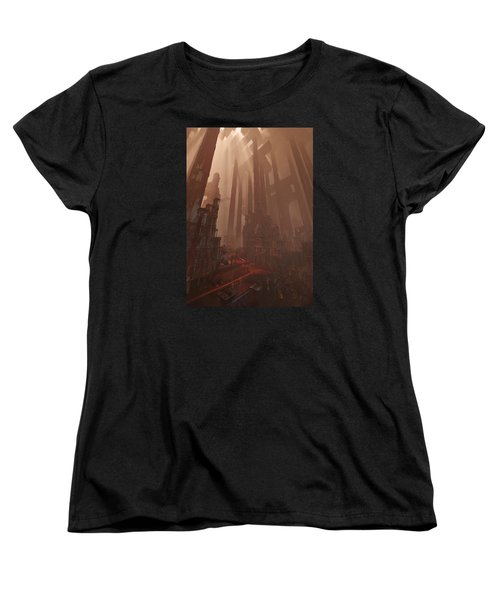 Women's T-Shirt (Standard Cut) featuring the digital art Wonders_temple Of Artmeis by Te Hu