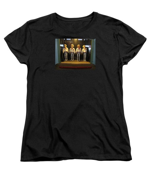 Women's T-Shirt (Standard Cut) featuring the photograph Wooden Rat Pack by John King
