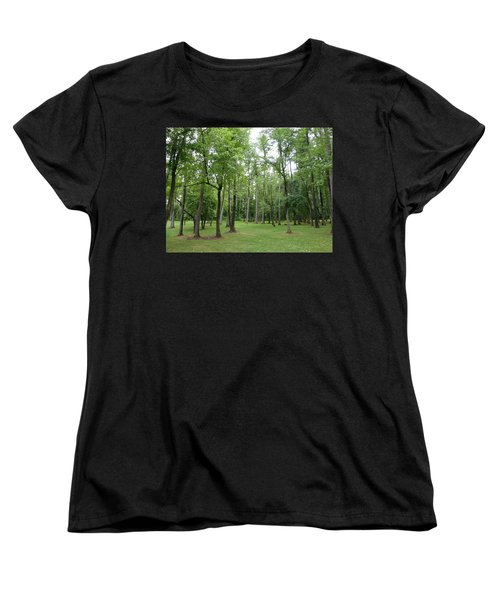 Woods At Lake Redman Women's T-Shirt (Standard Cut) by Donald C Morgan