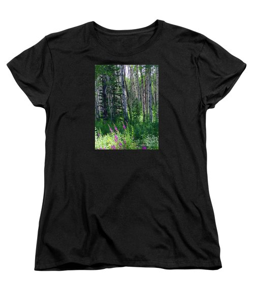 Woods Women's T-Shirt (Standard Cut) by Beth Saffer