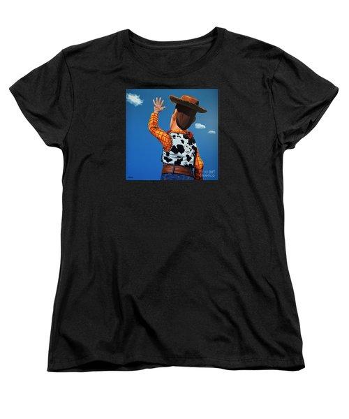 Woody Of Toy Story Women's T-Shirt (Standard Cut) by Paul Meijering