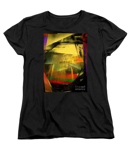 Women's T-Shirt (Standard Cut) featuring the painting Work Bench by Greg Moores
