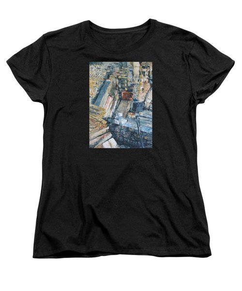 Working To Abstraction Women's T-Shirt (Standard Cut) by Connie Schaertl