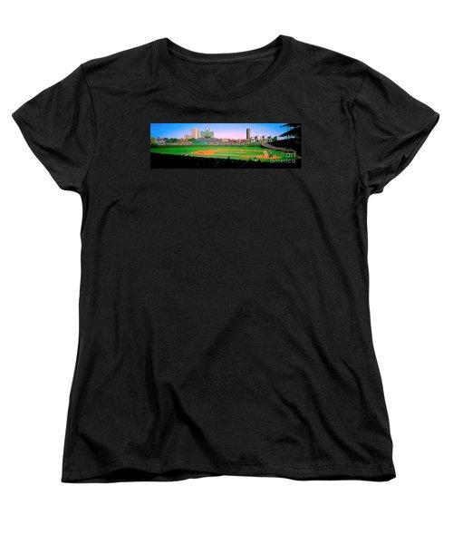 Women's T-Shirt (Standard Cut) featuring the photograph Wrigley Field  by Tom Jelen