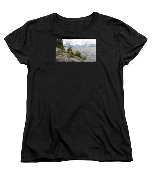 Wyoming Mountains Women's T-Shirt (Standard Cut) by Diane Bohna