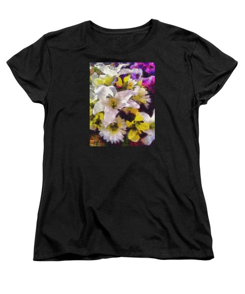 Women's T-Shirt (Standard Cut) featuring the photograph Xtreme Floral Six The White Star by Spyder Webb
