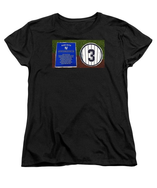 Yankee Legends Number 3 Women's T-Shirt (Standard Cut) by David Lee Thompson