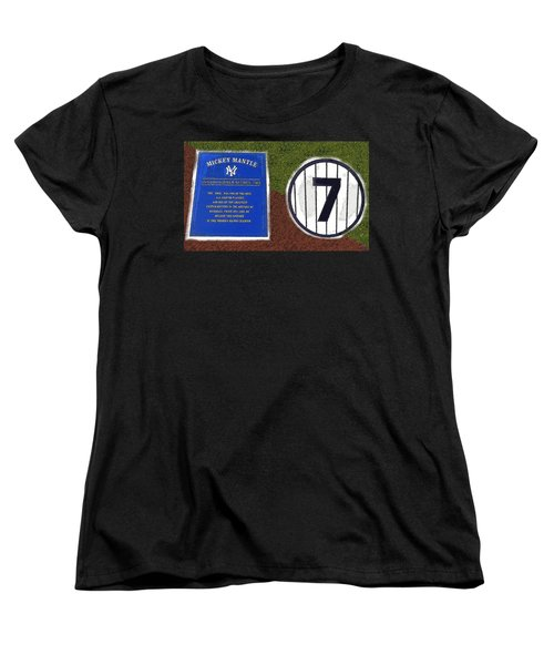 Yankee Legends Number 7 Women's T-Shirt (Standard Cut) by David Lee Thompson