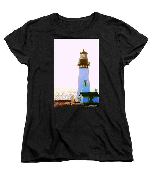Yaquina Head Lighthouse Women's T-Shirt (Standard Cut) by Steve Warnstaff