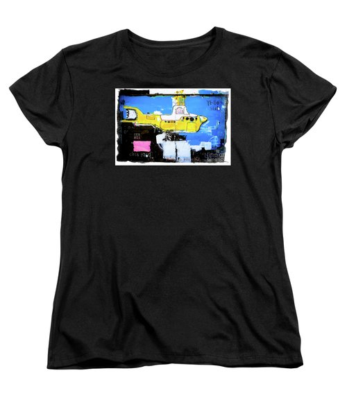 Women's T-Shirt (Standard Cut) featuring the photograph Yello Sub Graffiti by Colleen Kammerer