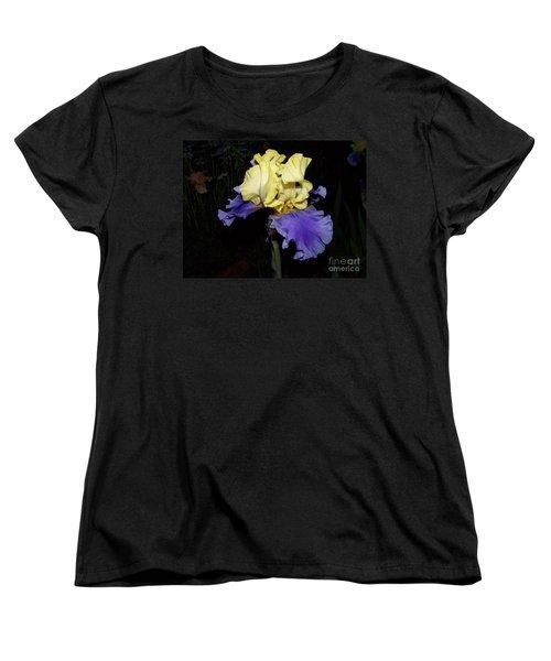 Yellow And Blue Iris Women's T-Shirt (Standard Cut) by Kathy McClure