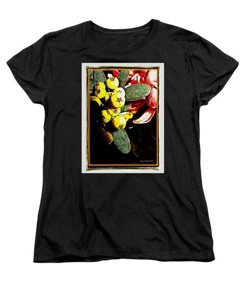 Women's T-Shirt (Standard Cut) featuring the photograph Yellow Berries by Joan  Minchak