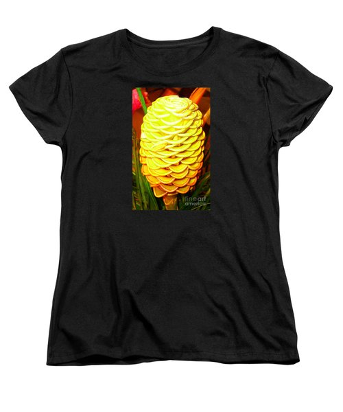 Yellow Cone Flower No. 1 Women's T-Shirt (Standard Cut) by Merton Allen