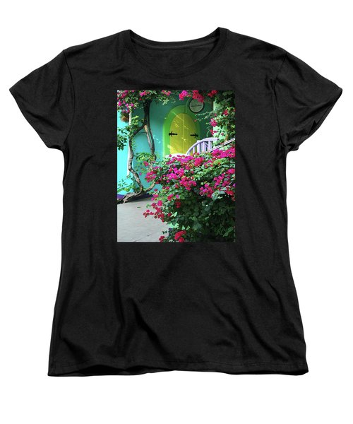 Yellow Door Women's T-Shirt (Standard Cut) by Michael Thomas