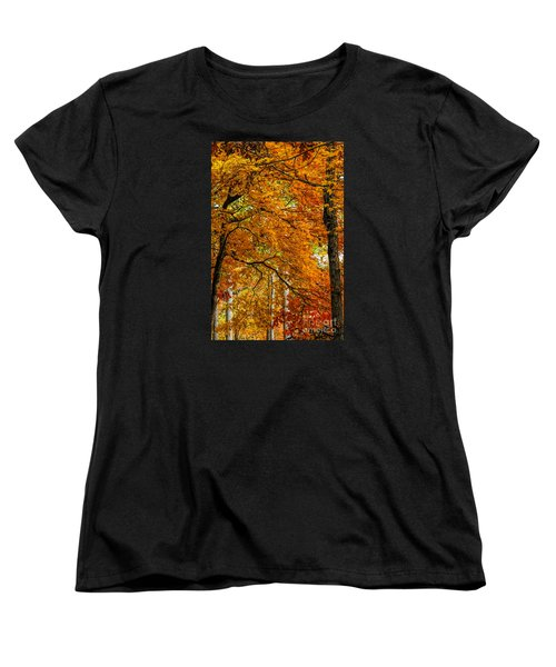 Women's T-Shirt (Standard Cut) featuring the photograph Yellow Leaves by Barbara Bowen