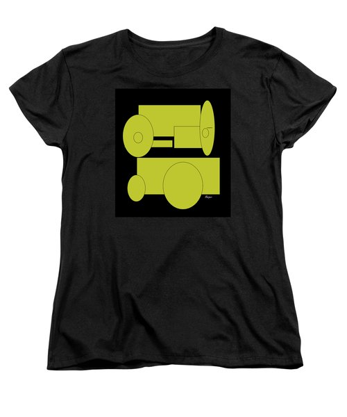 Women's T-Shirt (Standard Cut) featuring the drawing Yellow On Black by Cathy Harper