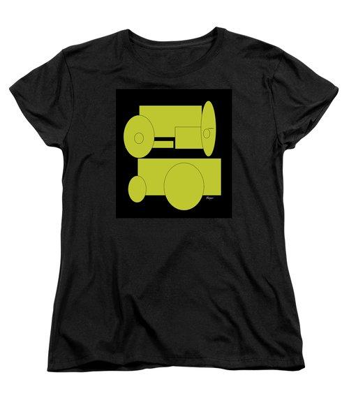Yellow On Black Women's T-Shirt (Standard Cut) by Cathy Harper
