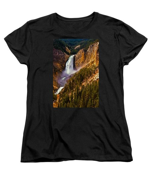 Yellowstone Falls Women's T-Shirt (Standard Cut) by Harry Spitz