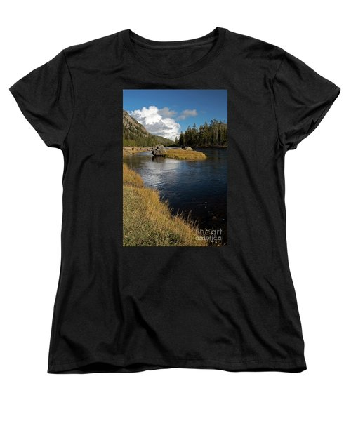 Yellowstone Nat'l Park Madison River Women's T-Shirt (Standard Cut) by Cindy Murphy - NightVisions