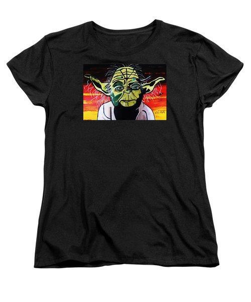 Yoda  Come Home Women's T-Shirt (Standard Cut) by Nora Shepley