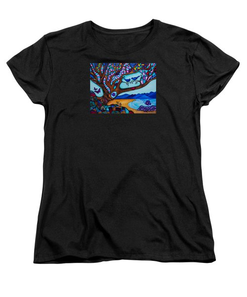 Women's T-Shirt (Standard Cut) featuring the painting Love Is All Around Us by Lori Miller