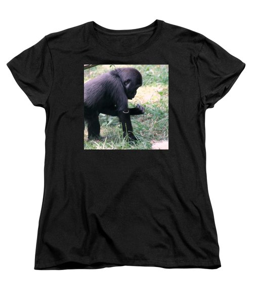 Women's T-Shirt (Standard Cut) featuring the photograph Young Gorilla by Laurel Talabere