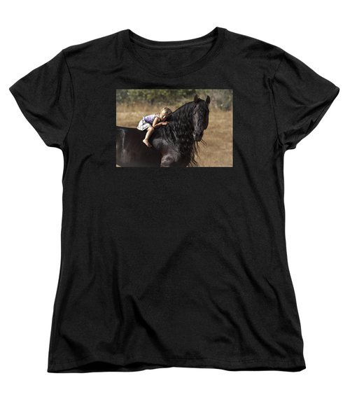 Young Rider Women's T-Shirt (Standard Cut) by Wes and Dotty Weber