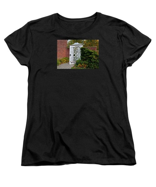 Women's T-Shirt (Standard Cut) featuring the photograph Your Next Chapter by Michiale Schneider