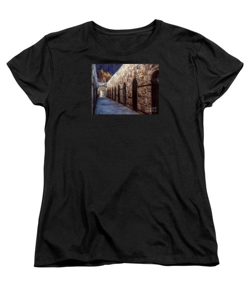 Women's T-Shirt (Standard Cut) featuring the photograph Yuma Prison Cellblock  ... by Chuck Caramella
