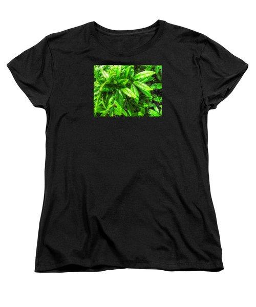 Women's T-Shirt (Standard Cut) featuring the pyrography Yury Bashkin Greeeeenno by Yury Bashkin