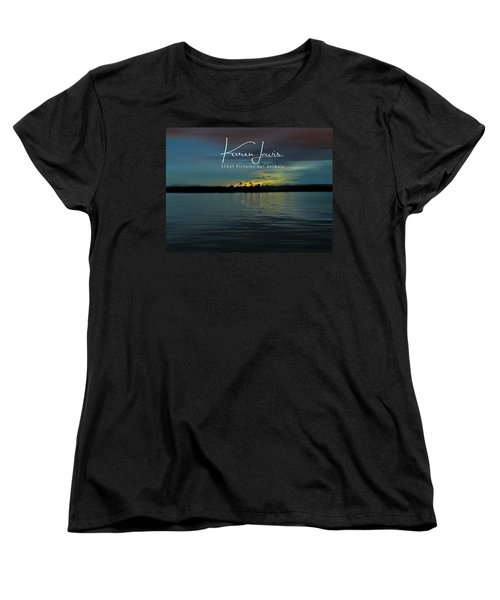 Women's T-Shirt (Standard Cut) featuring the photograph Zambezi Sunset by Karen Lewis