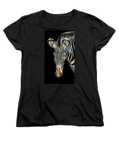 Zebra Women's T-Shirt (Standard Cut) by Dave Mills