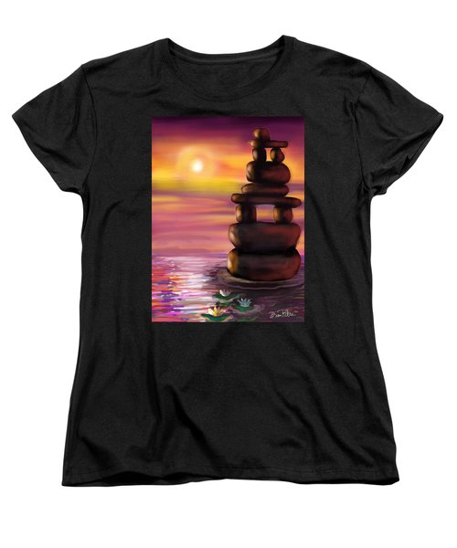Zen Sunset Women's T-Shirt (Standard Cut) by Diana Riukas